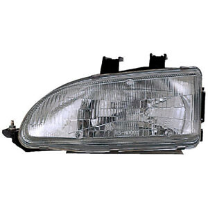 Left Side Headlight Assembly For Honda Civic 1992 1993 1994 1995
