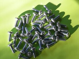Metric Phillips License Plate Screws 50 Per Bag 6mmx16mm X1 0 Sb12