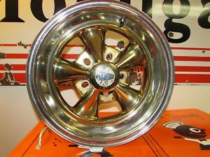 Vintage Rare Cragar Ss Chrome With Gold Plated Centers Rims Ss Set Of 2