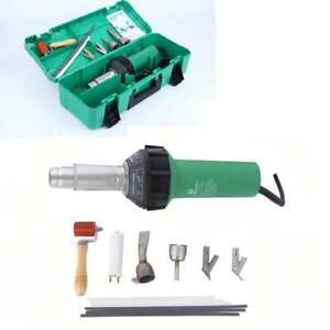 1600w Hot Air Torch Plastic Welding Gun Kit Welder Pistol Tool W Abs Hard Case