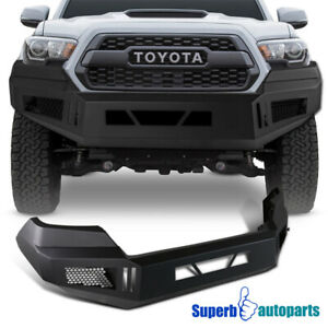 Front Bumper Cover Matt Black Steel For 16 19 Toyota Tacoma Pickup Assembly