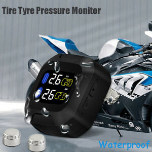 Wireless Motorcycle Tpms Tire Tyre Pressure Monitor System External Sen