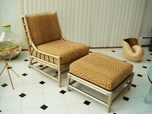 Tommi Parzinger Club Lounge Chair And Ottoman Willow Reed Pavilion Collection