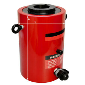 60 Ton Hollow Plunge Hydraulic Cylinder 50mm Stroke 245mm Closed Height