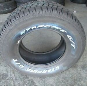 1 New 275 60r15 Starfire Gt Tires 60 15 2756015 R15 60r Solid White Letters