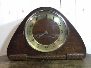 Vintage Wooden Mantle Clock Foreign Spares And Repairs