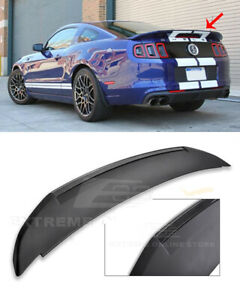 For 10 14 Ford Mustang Carbon Fiber Gt500 Style Rear Trunk Lid Wing Spoiler