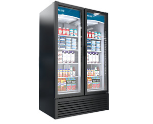 Pro kold 43cf 2 Two Swing Door Glass Soda Display Cooler Refrigerator Led Vc 43