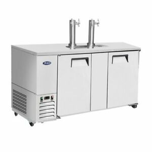 Atosa Mkc68 68 Stainless Door 3 Keg Capacity Draft Beer Cooler Free Lift Gate
