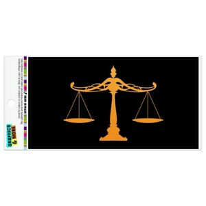 Scales Of Justice Legal Lawyer Automotive Car Refrigerator Locker Vinyl Magnet
