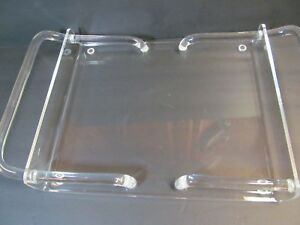 Lucite Serving Tray Curved Rare Handles Mid Century Modern Acrylic
