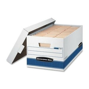 12 Bankers Box Stor file Medium duty Storage Boxes Lift off Lid Letter 00701