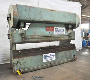 135 Ton X 12 Used Chicago Mechanical Clutch Press Brake 410 d A2242