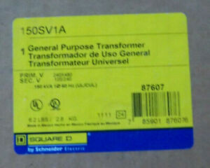 Square D 150sv1a Industrial Control Transformer 240 480 120 240 0 15kva 1 Phase