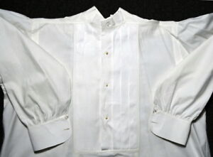 Victorian Era Pleated Bib Front Pullover Dress Shirtauthentic 1800s Vintage