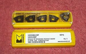 Kennametal Carbide Inserts Wnmg 433 Rp Grade Kcp10 Pack Of 5