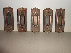 Antique Sash Lifts Set Of 5 Copper