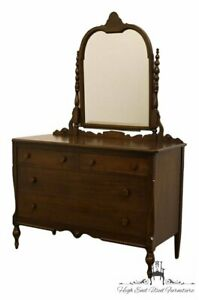 Sligh Furniture Co Grand Rapids 1967 Antique Mahogany 48 Dresser With Mirror