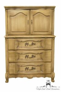 White Of Mebane Country French Provincial 39 Door Chest On Chest 3344