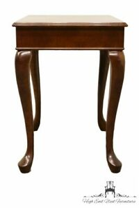 The Bombay Company Queen Anne Banded Mahogany 17x25 End Accent Table