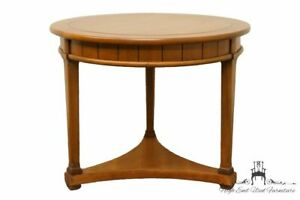 Hekman Furniture Italian Neoclassical Tuscan Style 26 Round End Accent Tab