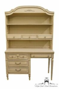 Dixie French Provincial 46 Student Desk Vanity W Bookcase Hutch 340 39