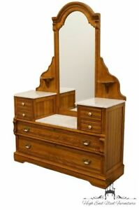 Dixie Recollections Collection Country French Oak 54 Marble Top Vanity Che