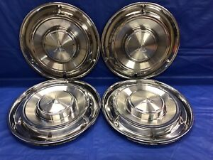 Vintage Set Of 4 1961 Oldsmobile 13 Hubcaps F85 Cutlass Good Condition