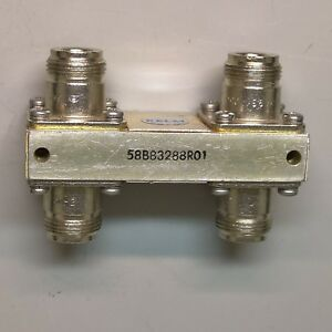 Relm 58b83288r01 Hl3873 Orthogonal Hybrid Coupler Made In Usa Type N Connector