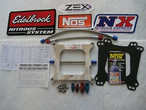 Checkout Offer New Holley 4150 Street Strip Cheater Nitrous Plate Kit 50 250hp
