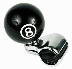 Universal Pool 8 Ball Steering Wheel Spinner Suicide Knob Handle For Car Truck