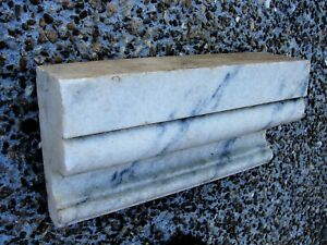 Architectural Salvage Antique Vintage Carrara Marble Shelf Trim Molding
