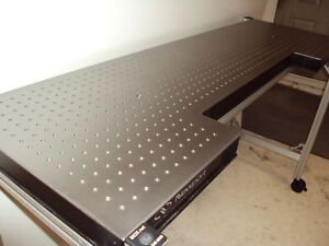 Crated Newport 5 Optical Table W Roll around T slot Aluminum Bench Breadboard