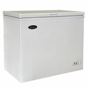 Atosa Mwf9007 7 Cu Ft Solid Top Chest Freezer W White Coated Exterior Free Ship