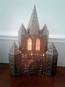Vintage Metal Wall Art Gothic Medieval Castle Electric Or Candle Wall Lamp