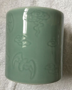 Chinese Celadon Porcelain Brush Pot