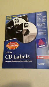 Avery 5698 Cd Labels For Laser Printers White Labels new
