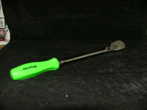 Snap On 3 8 Drive Flex Head Long Handle 80 Tooth Green