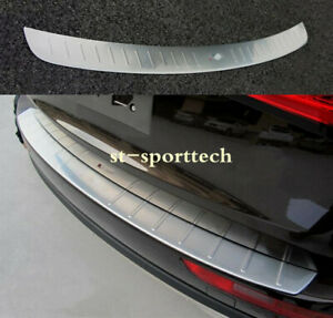 Stainless Steel Outer Rear Bumper Protector Sill Trim Fit For 2009 2017 Audi Q5