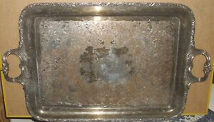 Wilcox International Silver Company Large Silver Plated Tea Serving Tray