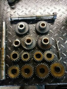 South Bend 16 Lathe Cl 117e Double Tumbler Quick Change Gears Shafts Set