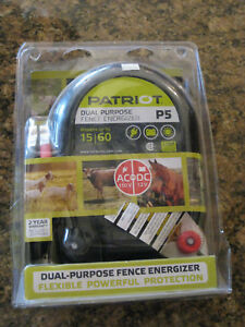 Patriot P5 Electric Fence Charger Energizer 15 Mile 60 Acre New Free S h