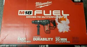 Milwaukee 2717 20 M18 Fuel 1 9 16 Sds Max Hammer Drill tool Only