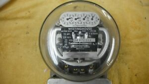 Vintage Westinghouse Electric Meter Type Ca2483323 120 15 Amp Volts Single Phase