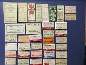 35 Old Pharmacy Apothecary Medicine Bottle Labels Vintage Ephemera