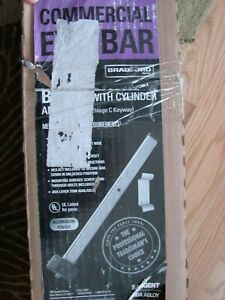 Sargent Commercial Satin Chrome Exit Bar B62 With Keyed Cylinder And Pull