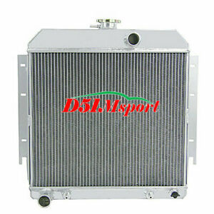 3row Aluminum Radiator Fit Dodge Dart Plymouth Valiant Barracuda L6 V8 1963 1966