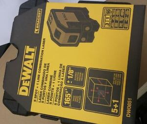Dewalt Us Version Dw0851 Combilaser Self leveling 5 spot Beam horizontal Laser