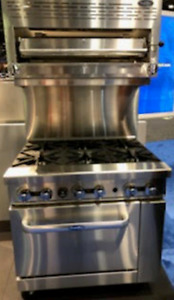 New 36 Range 6 Burners 1 Oven Stove With Salamander Natural Gas Free Lift Gate