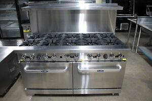 Atosa Cookrite Ato 10b 60 10 Burners Gas Range With Double Oven Free Lift Gate